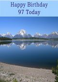 Happy Birthday - 97 Today - Option 2